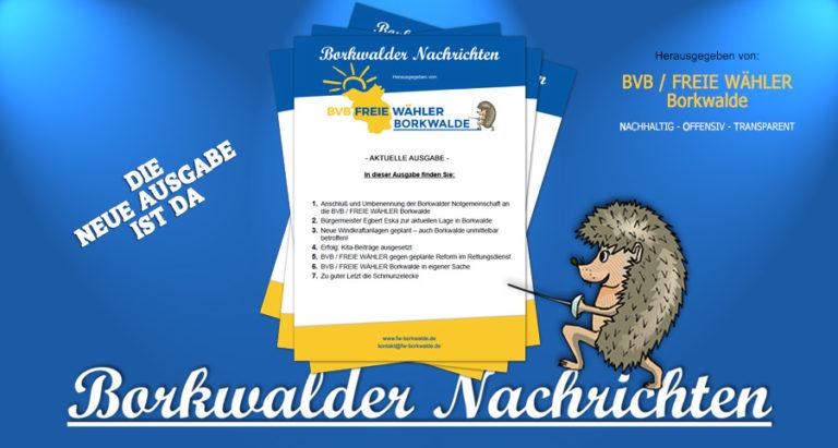 Borkwalder Nachrichten Freie Wähler Borkwalde
